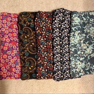 5 LulaRoe leggings bundle TC